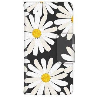 フローラル シックな花柄 フラワー 多機種手帳型スマートフォンケース