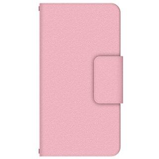 ピンク シンプル・カラー 多機種手帳型スマートフォンケース