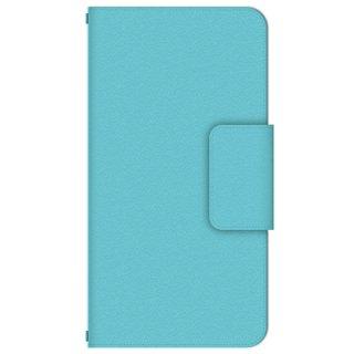 アクア シンプル・カラー 多機種手帳型スマートフォンケース