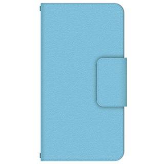 スカイブルー 水色 シンプル・カラー 多機種手帳型スマートフォンケース