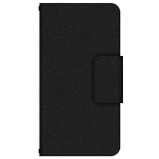 ブラック シンプル・カラー 多機種手帳型スマートフォンケース