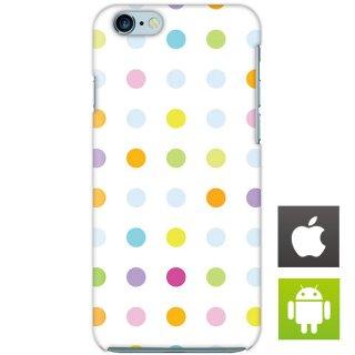 カラフル ドット柄 スマートフォンケース ハードケース iPhone アンドロイド