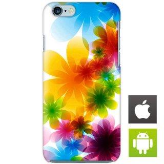 カラフル フラワー 花柄 スマートフォンケース ハードケース iPhone アンドロイド