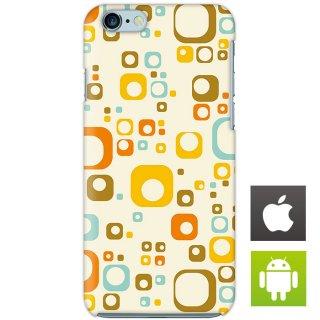 サークルデザイン カラフル スマートフォンケース ハードケース iPhone アンドロイド
