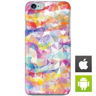 カラフル ポリゴン スマートフォンケース ハードケース iPhone アンドロイド