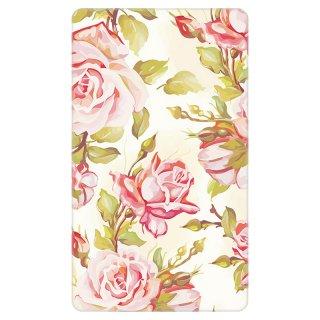 薔薇柄 ピンクローズ ペイント モバイルバッテリー