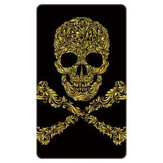 スカル ドクロ 透かし彫り 海賊旗 ゴールド モバイルバッテリー