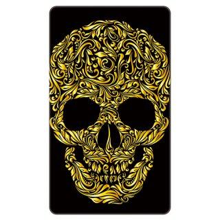スカル ドクロ 透かし彫り ゴールド モバイルバッテリー