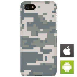迷彩 カモフラージュ デジタル スマートフォンケース ハードケース iPhone アンドロイド