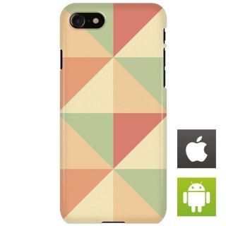 カラフル ポリゴン ベージュ・ピンク スマートフォンケース ハードケース iPhone アンドロイド