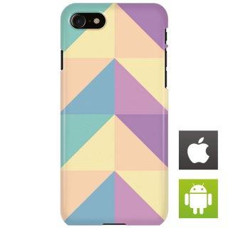 カラフル ポリゴン パープル・ブルー スマートフォンケース ハードケース iPhone アンドロイド