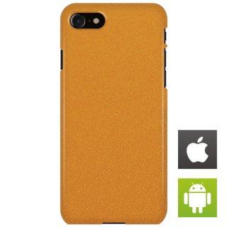 ストーン・テクスチャ オレンジ スマートフォンケース ハードケース iPhone アンドロイド