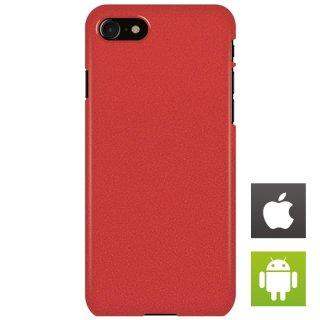 ストーン・テクスチャ 赤 スマートフォンケース ハードケース iPhone アンドロイド