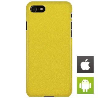 ストーン・テクスチャ 黄色 スマートフォンケース ハードケース iPhone アンドロイド