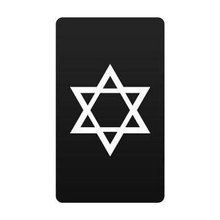 六芒星 黒 モバイルバッテリー