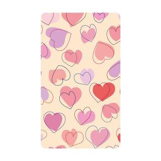 ハート ポップ イラスト ピンク モバイルバッテリー