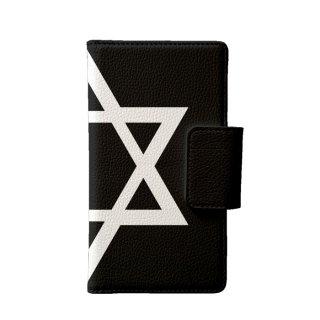 六芒星 黒 多機種手帳型スマートフォンケース