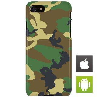 迷彩 カモフラージュ ウッドランド スマートフォンケース ハードケース iPhone アンドロイド