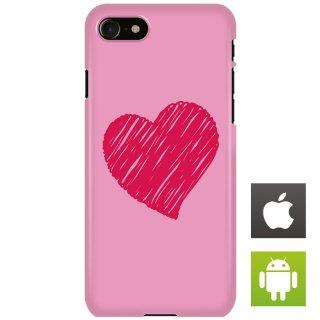 ハートマーク ピンク シンプル スマートフォンケース ハードケース iPhone アンドロイド