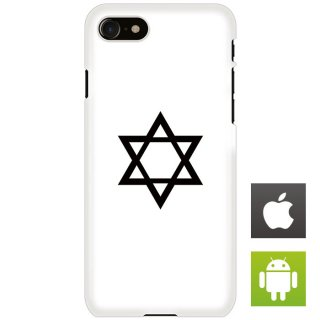 六芒星 白 スマートフォンケース ハードケース iPhone アンドロイド