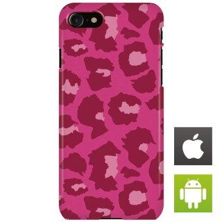 アニマル ヒョウ柄 レオパード柄 ピンク スマートフォンケース ハードケース iPhone アンドロイド