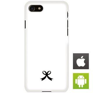 リボン シンプル スマートフォンケース ハードケース iPhone アンドロイド