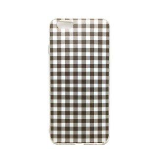ギンガムチェック ブラック ソフトケース iPhone6 iPhone6S