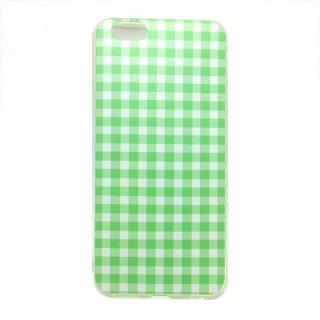 ギンガムチェック グリーン ソフトケース iPhone6 iPhone6S