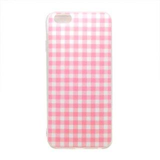 ギンガムチェック ピンク ソフトケース iPhone6 iPhone6S