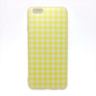 ギンガムチェック イエロー ソフトケース iPhone6 iPhone6S