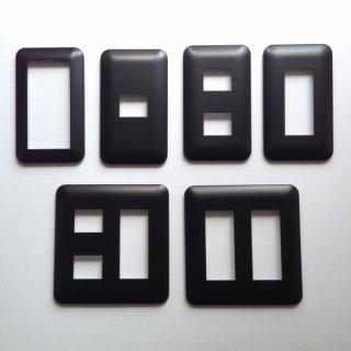 コンセントプレート 黒 (Pシリーズ)全面黒