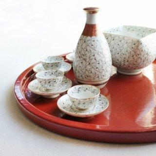 九谷焼 酒器set鶴