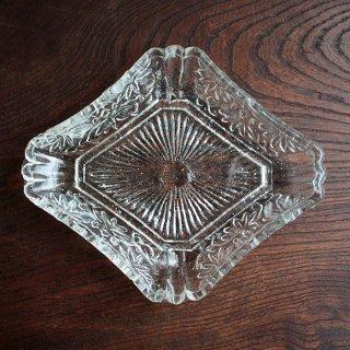 プレスガラス 菱形変形皿