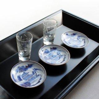 藍九谷 豆皿