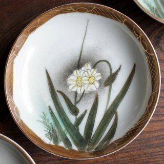染付小皿 野花