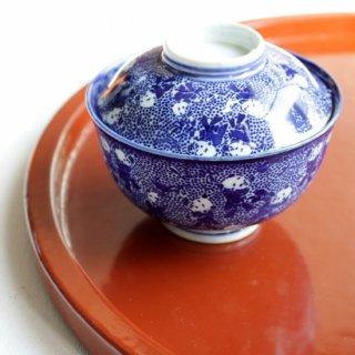 印判 唐子 蓋付飯茶碗