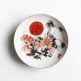色絵 小皿 草花に龍