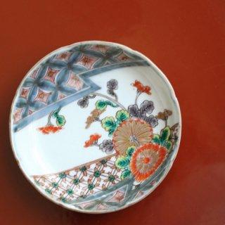 色絵 小皿 菊
