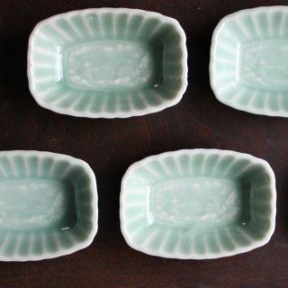 青磁 豆皿 山水
