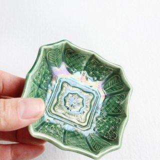 �平焼 幾何学豆皿