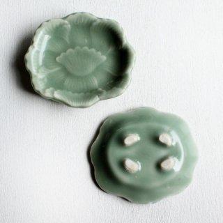 三田青磁 牡丹 豆皿set
