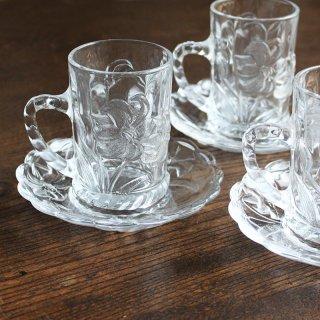 百合 ガラスカップ&ソーサー