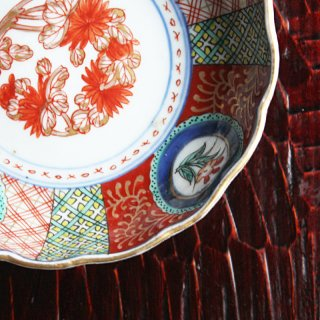 色絵なます皿 菊