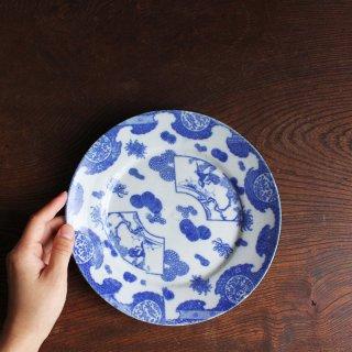 印判七寸皿 扇