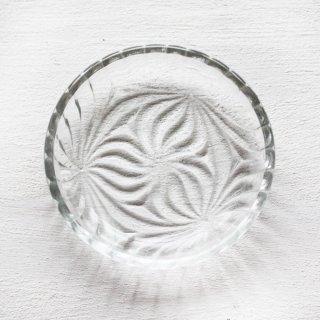 プレスガラス小皿 鞠