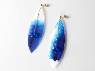 スワロフスキーイヤリング-藍