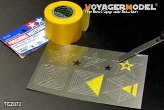 VOYAGERMODEL マスキングテープカッティングジグ4 四角形 六角形 星形
