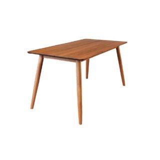 無垢材ダイニングテーブル ウォルナット無垢材 ダークブラウン ホワイトオーク 幅150cm 北欧風 TAKKY(タッキー)テーブル