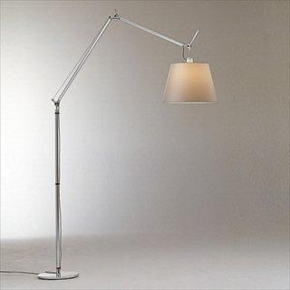 送料無料 フロアライト ランプ 照明 シルクサテン ミケーレ・デ・ルッキ イタリア 150W E26 Artemide(アルテミデ) TOLOMEO MEGA TERRA(トロメオ メガ テラ)