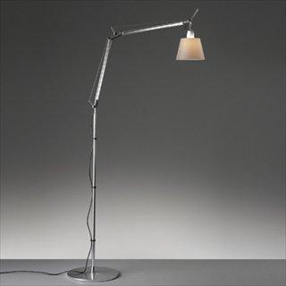 送料無料 フロアライト ランプ 照明 シルクサテン イタリア 60W E26 Artemide(アルテミデ) TOLOMEO BASCULANTE TERRA(トロメオ バスキュランテ テラ)